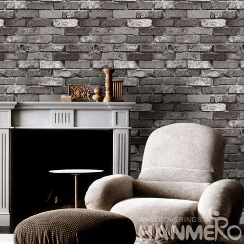HANMERO Eco-friendly Nature Sense PVC 3D Brick Vintage Wallpaper in Modern Style for Elegant Home Decorative