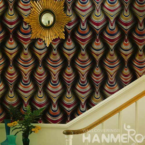 HANMERO Economical Fashion PVC 0.53 * 10M Wall Decor Wallpaper Modern Style on Sale from Chinese Factory Favorable Prices