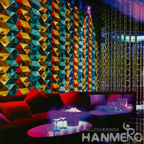 HANMERO Luxury Colorful PVC 0.53 * 10M Rolls of Wallpaper for Sale Modern Germetic Living Room Bedroom Decor