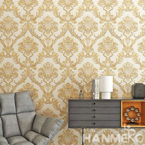 HANMERO Eco-friendly Durable PVC Wallpaper 0.53 * 10M / Roll Factory Sell Directlly from Chinese Wallcovering Supplier