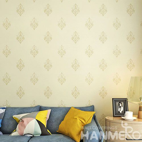 HANMERO Light Color 0.53 * 10M PVC Wallpaper Living room Interior Wall Wallcovering for Wholesale Best Selling