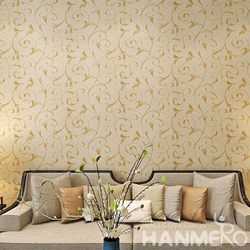 HANMERO Chinese Best-selling High Quality 0.53 * 10M PVC Wallpaper Vines Pattern for TV Bachground Wall Decor
