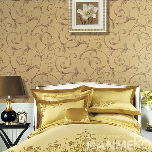 HANMERO Eco-friendly Affordable PVC Wallpaper Embossed Technology for Elegant Home Bedroom Decoration