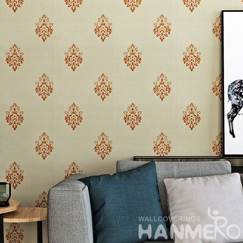 HANMERO New Arrival Household Wallcovering Supplier PVC Wallpaper Best Prices in 0.53 * 10M / Roll CE Certificate