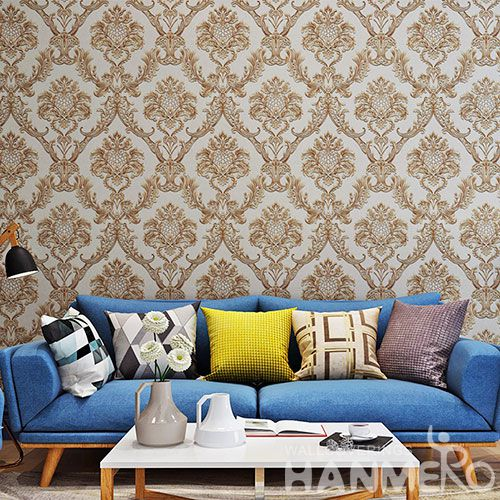 HANMERO Popular Modern Interior Room Decorative PVC 0.53 * 10M Wallpaper Wallcovering Factory Hot Selling