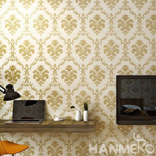 HANMERO Classic Chinese 0.53 * 10M / Roll PVC Wallpaper for Room Wall Decoration with Embossed Technology