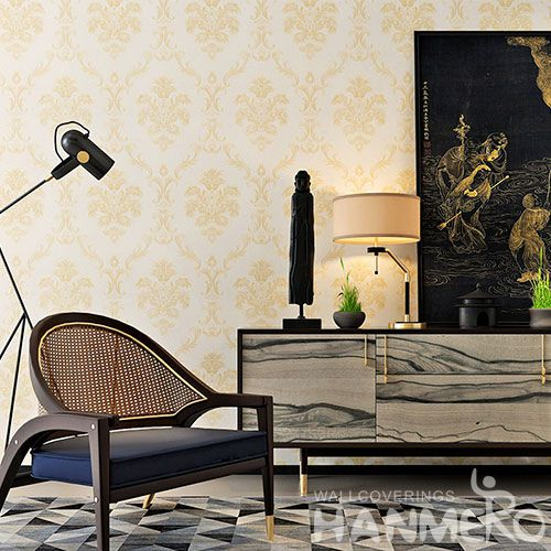HANMERO Interior Room Decor Wallcovering 0.53 * 10M / Roll PVC Wallpaper Natural Material Chinese Manufacture