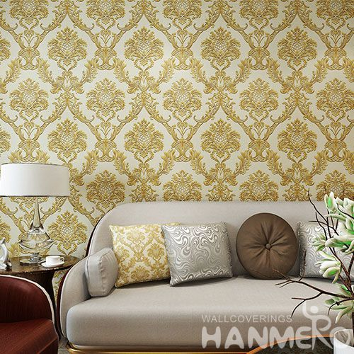 HANMERO Newest High Quality Wallcovering PVC Wallpaper 0.53 * 10M / Roll for Hotel Nightclub Wall Decor CE Certificate