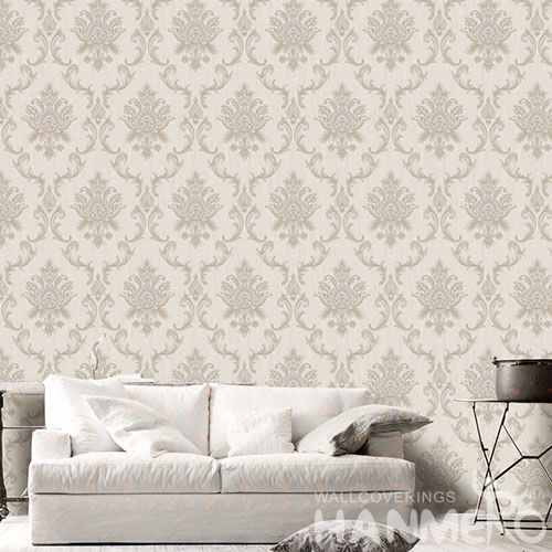HANMERO Affordable Classic 0.53 * 10M PVC Wallpaper Damask Designs for Household Decoration Factory Sell Directlly