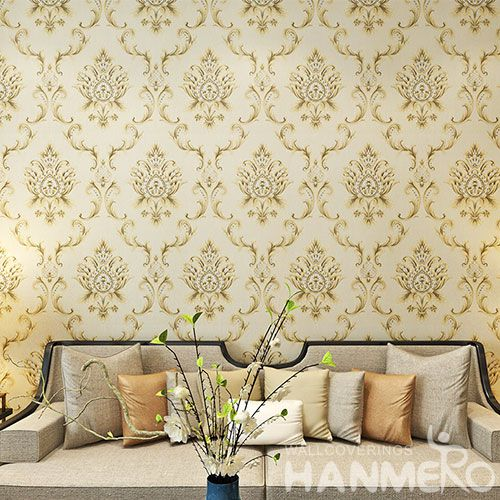 HANMERO European Classic Design PVC Wallpaper 0.53 * 10M for Luxury Home Decoration from China Nature Sense