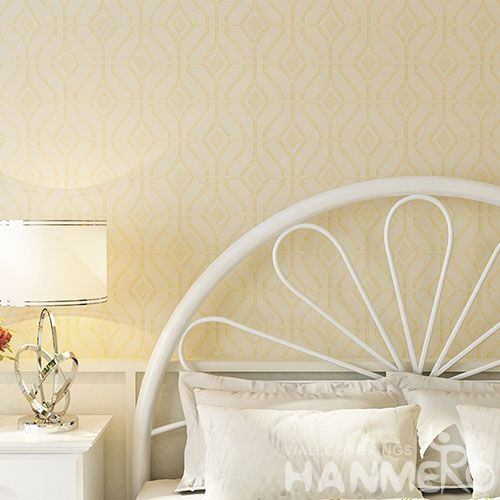 HANMERO Latest European Germetric Pattern 0.53 * 10M PVC Wallpaper from Chinese Wallcovering Manufacturer Photo Quality