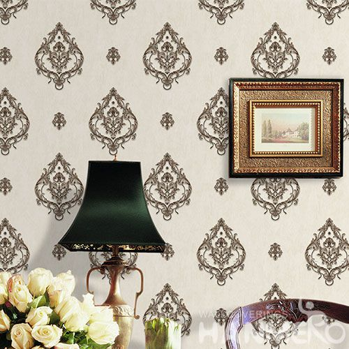 HANMERO Chinese European Modern PVC Wallpaper 0.53 * 10M Household Decor Wallcovering China Supplier CE Certificate