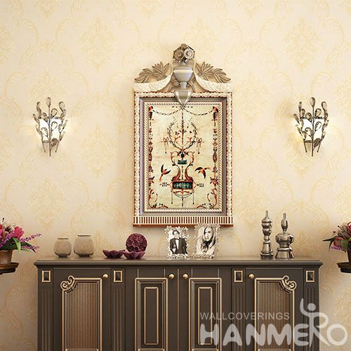 HANMERO Stylish Removable 0.53 * 10M PVC Wallpaper European Style for Living Room TV Background Decor High Quality