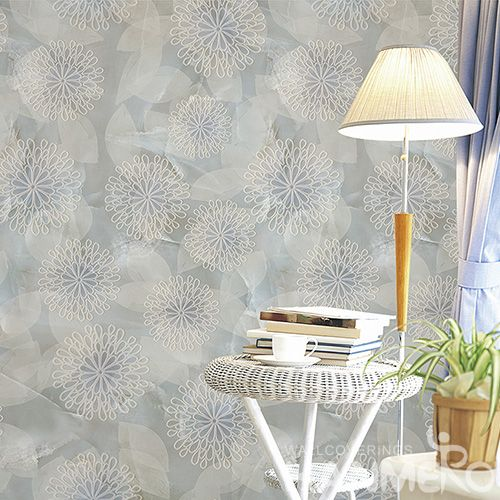 HANMERO Modern 3D Flowers Pattern Wallpaper Living Room.Bedroom.TV Sofa Background Hotel Office Wall Decor Wallcovering