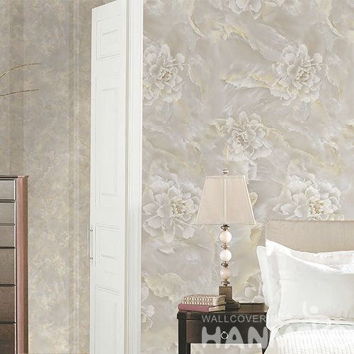 HANMERO New Arrival Luxury Flowers Design Wallpaper 0.53 * 10M Non-woven Home Interior Decor Wallcovering Factory Sell Directly