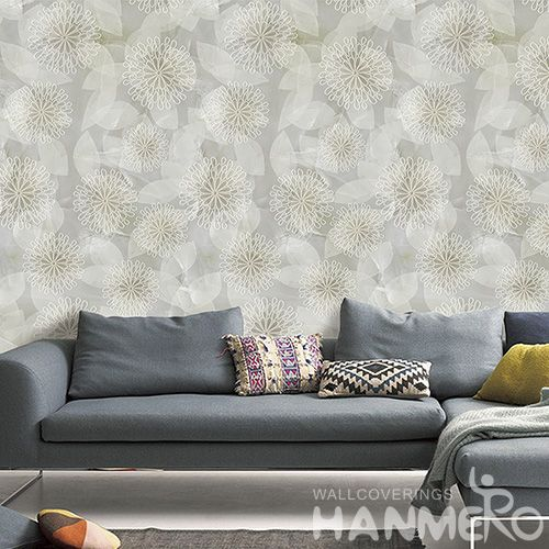 HANMERO Hot Top Selling Room Decor 3D Flowers Pattern Wallpaper Modern Style from Chinese Manufacture Wallcovering Vendor