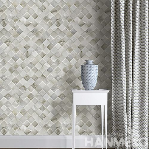 HANMERO Fashion Stylish Room Decor 3D Gemetric Pattern Non-woven Wallpaper Modern Style with Competitive Prices