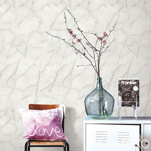 HANMERO 3D White Marble Stone Design Wallpaper  Living room Interior Wall Decoration Wallcovering Supplier High Quality