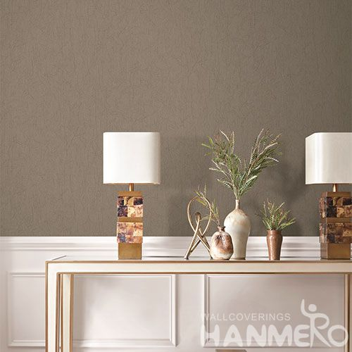 HANMERO Popular Simple Style Interior Room Decorative Natural Wallpaper 1.06M PVC Decorative Wallcovering Factory from China