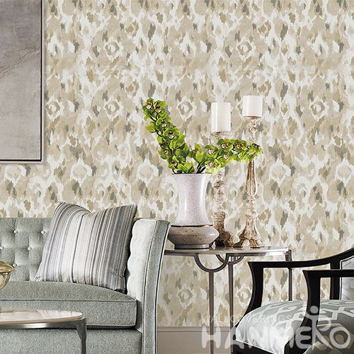 HANMERO 0.53 * 10M Non-woven Paper Wallcovering Factory China Wall Decor Natural Material Cheap Living Room Wallpaper Exporter