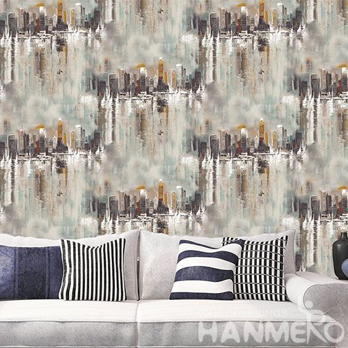 HANMERO Popular Interior Room Decorative Non-woven 0.53 * 10M Rolls of Wallpaper for Sale Wallcovering Factory New Latest
