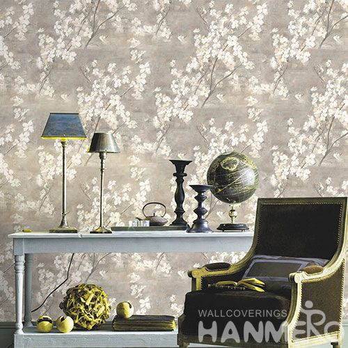 HANMERO European Modern White Flowers Pattern 0.53 * 10M Unique Living Room Wallpaper Wholesale Prices for TV Sofa Background Decorative