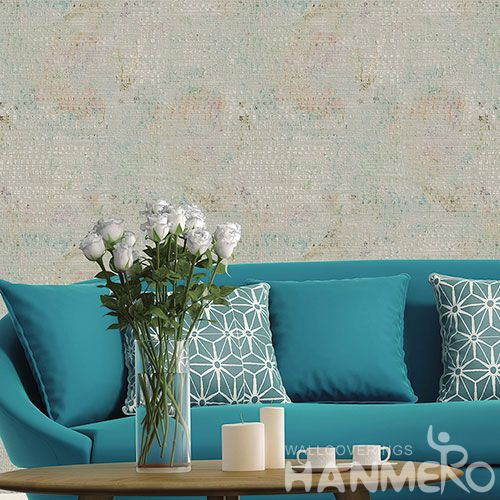 HANMERO Nature Simple Designs 0.53 * 10M / Roll Non-woven Wallpaper for Bathroom Walls Wallcovering from Chinese Exporter on Sale