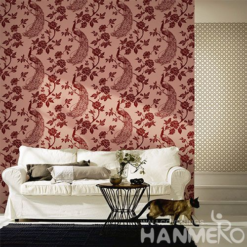 HANMERO Household Living Room Wall Non-woven Wallpaper 0.53 * 10M Best Selling Wallcovering Chinese Factory Modern Style