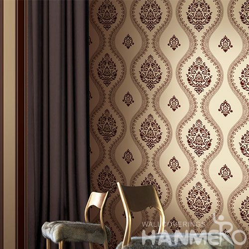 HANMERO Modern Living Room Brown Stripes Wallpaper 0.53 * 10M / Roll Non-woven Wallcovering Exported for Wall Decoration