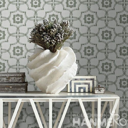 HANMERO Germetric Pattern Modern Simple Non-woven Wallpaper 0.53 * 10M Bathroom Bedroom Decor Wallcovering from Chinese Factory
