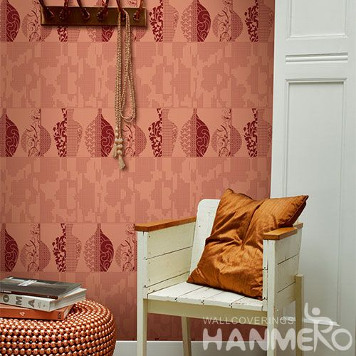 HANMERO Chinese Exporter Fashion Non-woven Wallcovering 0.53 * 10M / Roll Lounge Room Decorative Wallpaper Wholesale Modern Style