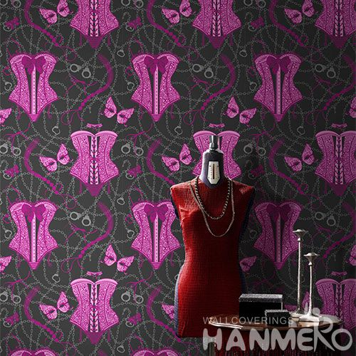 HANMERO Best Selling Beatiful Designs Non-woven Wallpaper 0.53 * 10m / Roll Wallcovering for Interior Wall Designer Chinese Factory
