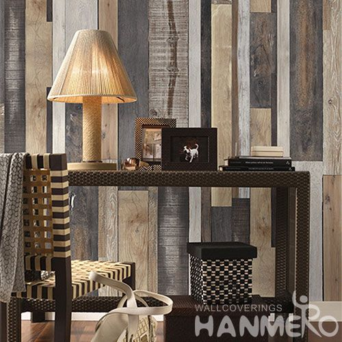 HANMERO Removable Eco-friendly Non-woven 3D Wood Wallpaper Chinese Exporter for Interior Home Decoration Photo Quality