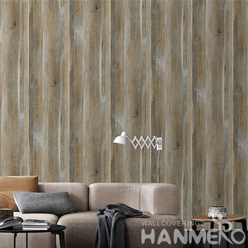HANMERO 0.53 * 10M Non-woven Wood Pattern Wallpaper Latest Modern Style Elegant Home Livingroom Decoration Chinese Vendor