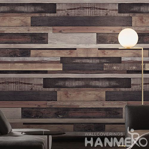 HANMERO Economical Natural Material Wallpaper 0.53 * 10M Non-woven Wood Pattern Wallcovering Home Desinger On Sale