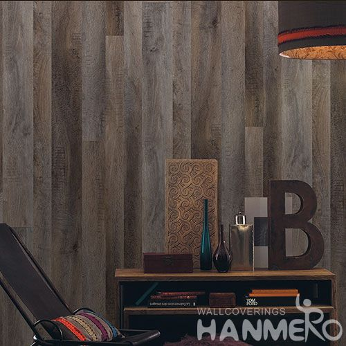 HANMERO Best-selling Affordable 0.53 * 10M Non-woven Wood Design Wallpaper TV Bachground Wall Decor Wallcovering Chinese Vendor