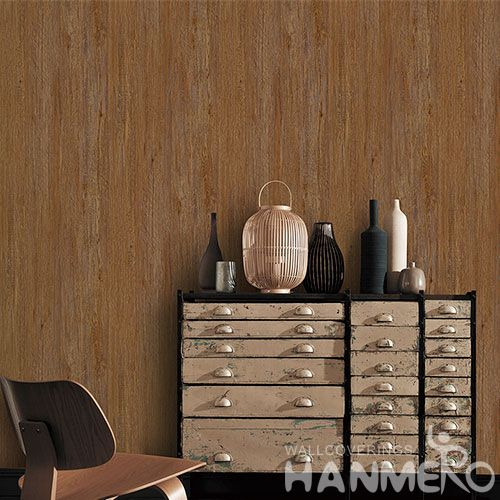 HANMERO 0.53 * 10M Non-woven Wood Pattern Wallpaper Nature Sense Designs Wallcovering Distributors Hot Sex Professional Factory