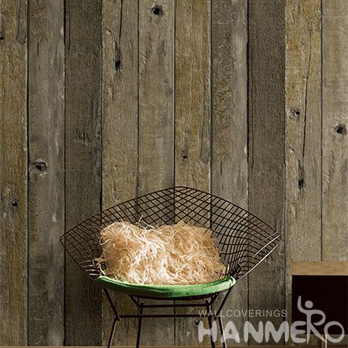 HANMERO Strippable Non-woven Wood Design Wallpaper Modern Simple Style for Restaurants Kitchen Wall Decor Best Selling
