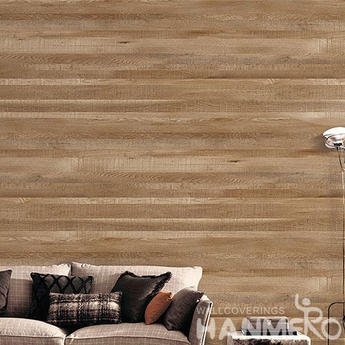 HANMERO 0.53 * 10M Modern Wood Design Wallpaper Fresh Hot Selling Non-woven Wallcovering Factory Sell Directly
