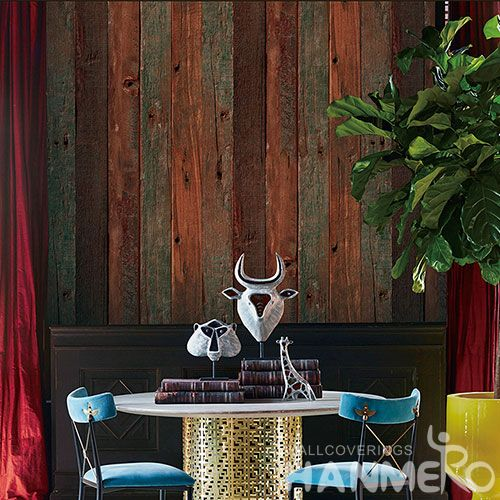 HANMERO Affordable Hot Selling Non-woven Wood Design Wallpaper Household Room Wallcovering Competitive Prices Chinese Dealer