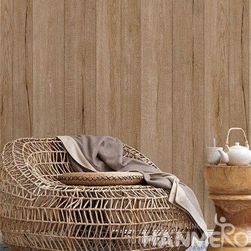 HANMERO Removable Chinese Supplier 0.53 * 10M Non-woven Wood Design Wallpaper for Home Decoration from Chinese Factory