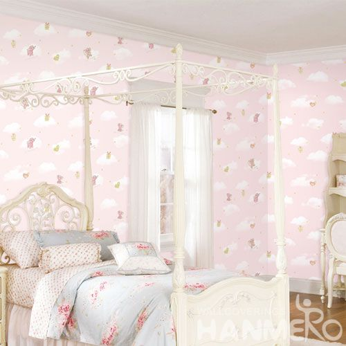 HANMERO Fancy Carton Design Non-woven 0.53 * 10M Modern Style Wallpaper Best Prices from Chinese Wallcovering Dealer for Kids Bedroom