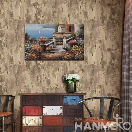 HANMERO Economical Brown Color Non-woven 0.53 * 10M Wallpaper in Modern Simple Style on Sale from Chinese Factory Favorable Prices