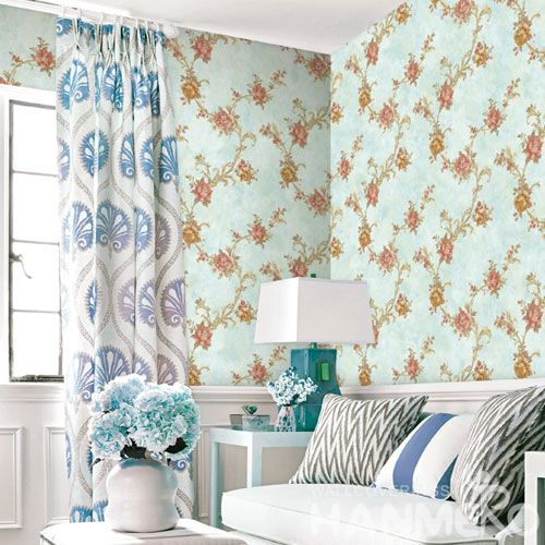 HANMERO Eco-friendly Beautiful Pink Flowers Home Decoration Wallcovering 0.53 * 10M / Roll Wallpaper Wholesale Price European Style