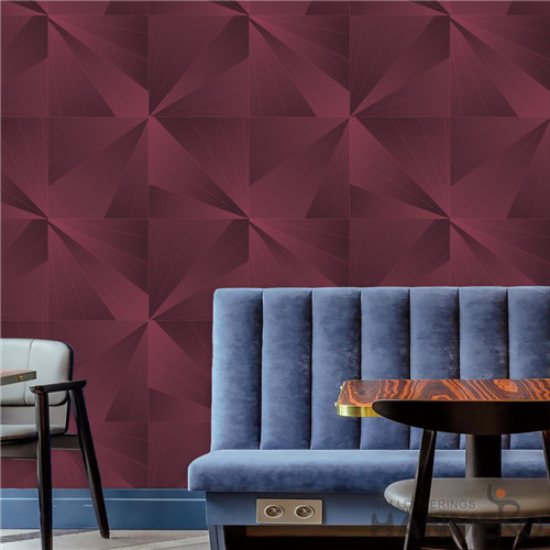 HANMERO PVC Removable Geometric Deep Embossed Modern TV Background 0.53*10M home wallpaper