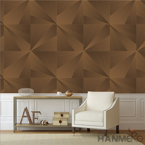 HANMERO kids wallpaper Removable Geometric Deep Embossed Modern TV Background 0.53*10M PVC