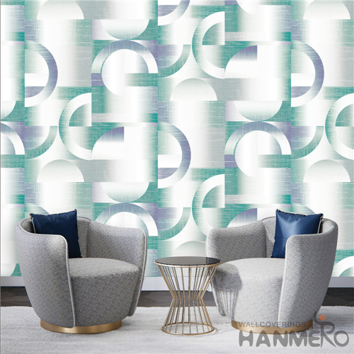 HANMERO PVC Removable wallpaper pictures Deep Embossed Modern TV Background 0.53*10M Geometric