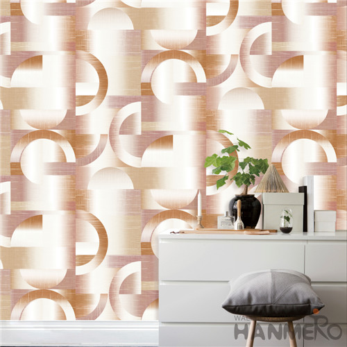 HANMERO PVC Removable Geometric vintage wallpaper Modern TV Background 0.53*10M Deep Embossed