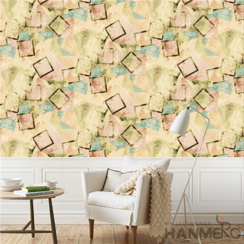 HANMERO PVC Removable Geometric Deep Embossed Modern photo wallpaper 0.53*10M TV Background