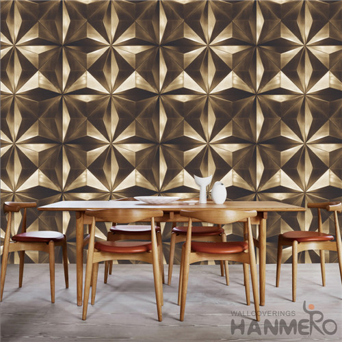 HANMERO PVC Removable Geometric Deep Embossed Modern TV Background buy wallpaper online 0.53*10M